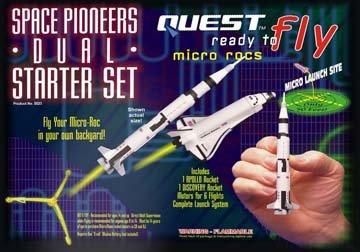 RTF Micro Space Pioneers Dual Starter Set (Rtf Rocket Starter)