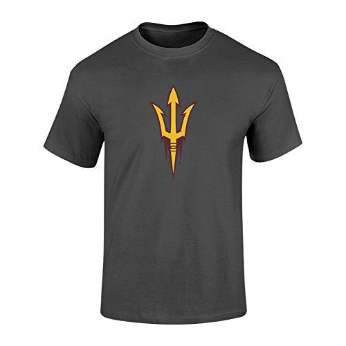 (Elite Fan Shop Arizona State Sun Devils Tshirt Power Heather Gray - XXL - Charcoal)