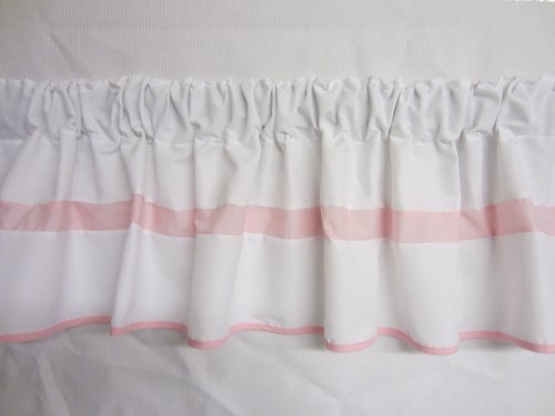 Baby Doll Bedding  Modern Hotel Style Window Valance, Pink by BabyDoll Bedding