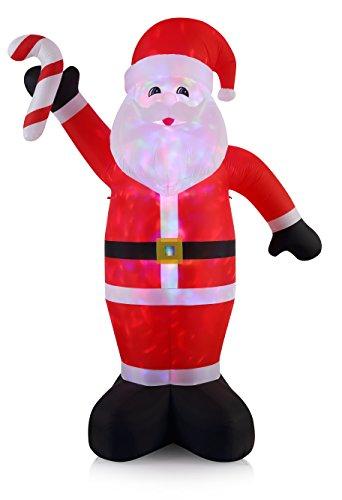 - VIDAMORE 12FT Tall Christmas Inflatable Santa Lawn Yard Garden Outdoor Decoration