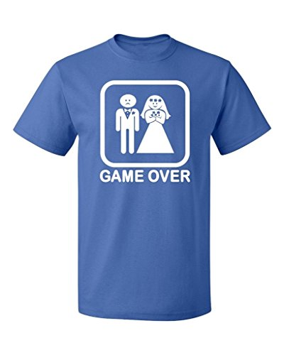 P&B Funny Married Game Over Men's T-Shirt, M, Royal