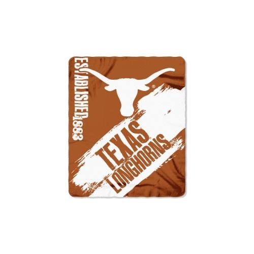 The Northwest Company Texas Longhorns NCAA Light Weight Fleece Blanket (Painted Series) (50inx60in) (2-Pack)