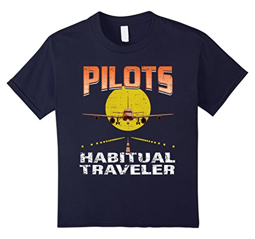 Kids Pilots Habitual Traveler Planes Travel Aviator Jet Chopper 6 Navy
