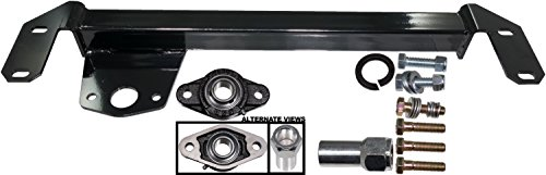 APDTY 133963 Heavy Duty Steering Box Death Wobble Stabilizer Bracket Kit Fits 1994-2002 Dodge Ram 1500 2500 3500 4WD Pickup Trucks (4x4 Only; Includes Grease-able Bearing) (Box Steering Dodge)