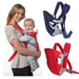 #8: Baby Carry Bag - Kids Carry Bag - Newborn Baby Kid Infant Carrier Backpack Front Back Rider Sling Comfort Wrap Bag - Blue ( Front Carry Bag )