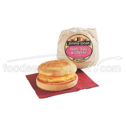 - Jimmy Dean Egg and Cheese, Ham Muffin Sandwich, 4.2 Ounce - 12 per case.