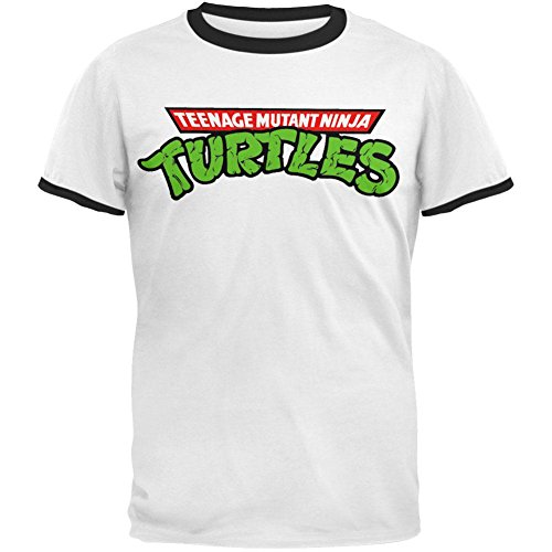 Teenage Mutant Ninja Turtles - Mens Logo Ringer T-Shirt - 2X-Large White ()