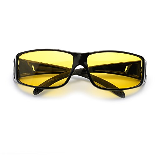 c1cf048d16 Grandes Gafas de Visión para Conduccion Nocturna Sobre Gafas Polarizadas Lente  Amarilla Anti Reflectante - Protección
