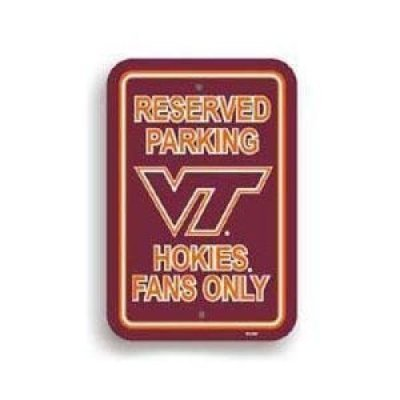 (Virginia Tech Hokies Plastic Parking Sign)