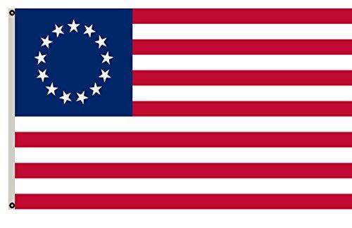 Fyon Historical American Revolutionary War Banner Betsy Ross Flag 5x8ft