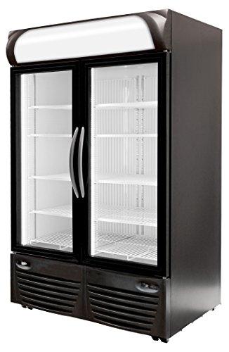 Minus Forty Technologies 43-UDGF-X1 Double Glass Door Upright Freezer Merchandiser - Ice Cream Vending Cart