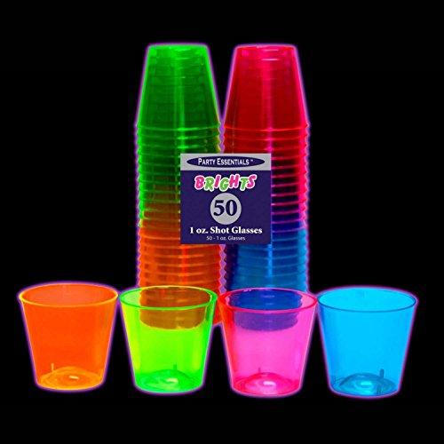 Party Essentials Hard Plastic 1 Ounce Shot Glasses 50