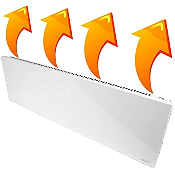 New Age Living Phantom 15 Wall Panel Heater - 1100W - Radiant & Convection Heating - Silent With No Moving Parts - TUV Rated For Safe Home Use