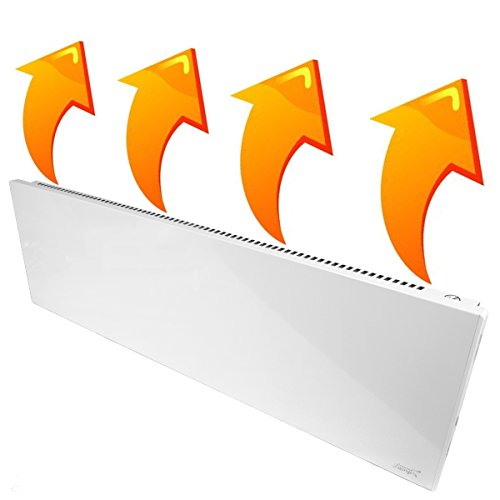 New Age Living Phantom 15 Wall Panel Heater - 1100W - Radiant & Convection Heating - Silent With No Moving Parts - TUV Rated For Safe Home Use -