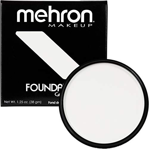 Mehron Makeup Foundation Greasepaint (1.25 oz) (WHITE) -