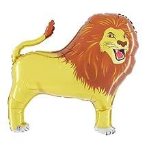 "LION 41"" BALLOONS BIRTHDAY BABY SHOWER ZOO KING OF JUNGLE SAFARI & FREE RIBBON!"