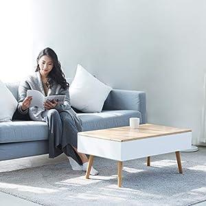 Zen'S Bamboo Lift Top Coffee Table Hidden Storage Drawer Living Room Furniture