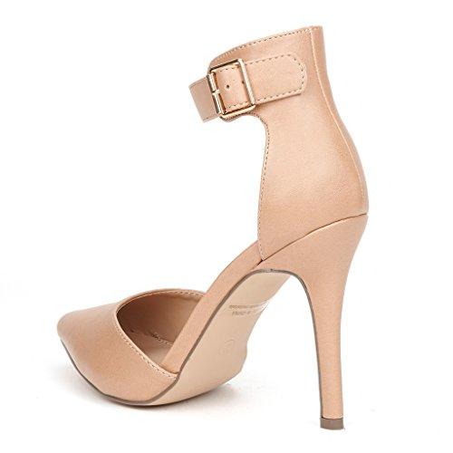 Toe OPPOINTED ANKLE PAIRS Stiletto Pointed Heel NUDE DREAM Strap ANKLE Ankle Shoes OPPOINTED Women's PU Pumps High D'Orsay dpF5ZqX