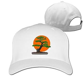 Bonsai Scene Trendy Flat Bill Cap Hat