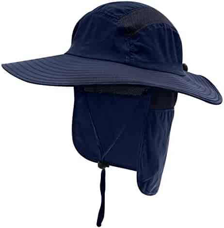 b315e5d4 Home Prefer Mens UPF 50+ Sun Protection Cap Wide Brim Fishing Hat with Neck  Flap