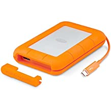 LaCie Rugged Thunderbolt and USB 3.0 SSD External Hard Drive, 500 GB