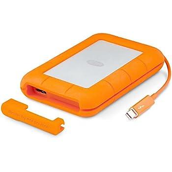 LaCie Rugged Thunderbolt and USB 3.0 SSD 500GB Portable Hard Drive STEZ500400