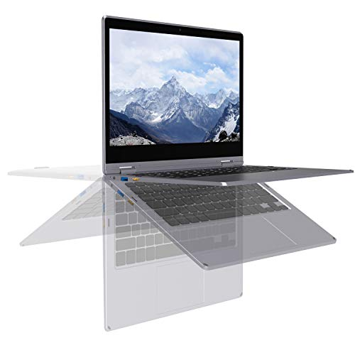 XIDU PhilBook Pro Touchscreen 2-in-1 Convertible Laptop, 11.6-Inch 2K (2560X1440) IPS Notebook, Intel Celeron J3355, 6GB DDR3, 128GB SSD, Windows 10 Home, Lightweight Metal Body, Star Gray