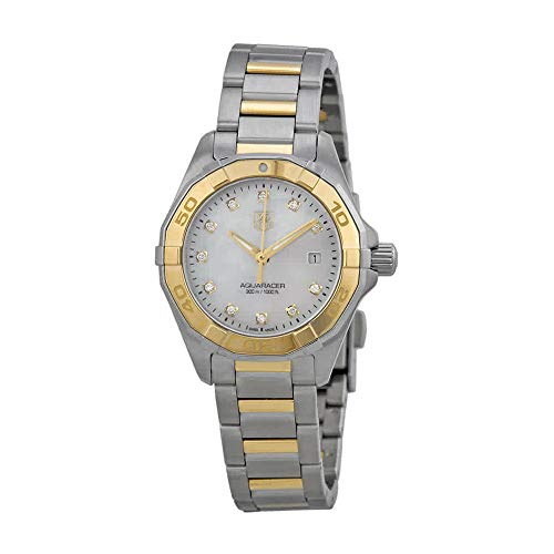 (TAG Heuer Women's WAY1451.BD0922 Aquaracer Diamond-Accented Two-Tone Stainless Steel Watch )
