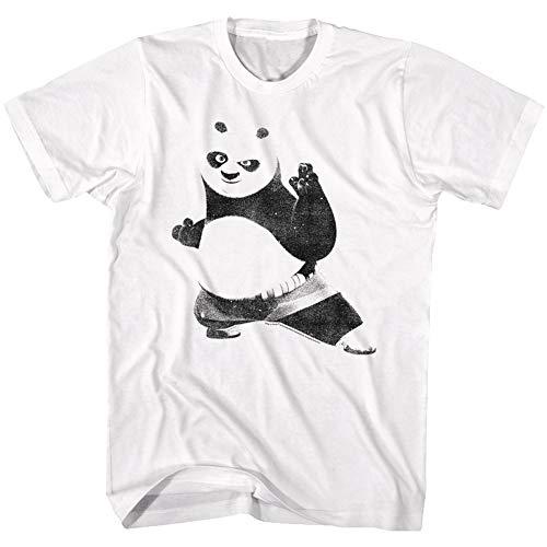 American Classics Kung Fu Panda Movie Strike a Fighting Pose Adult T-Shirt Tee White