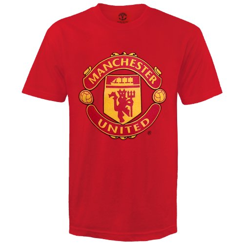 - Manchester United Football Club Official Soccer Gift Kids T-Shirt Red 6-7 Yrs