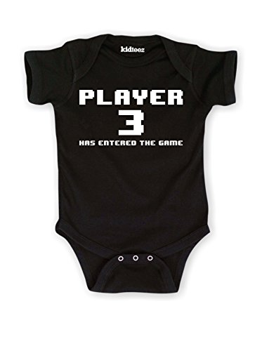 Price comparison product image Player 3 Has Entered The Game Cute Baby - Baby One Piece - Black - 6 Months