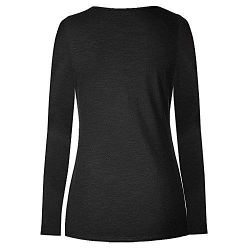 Allaitant shirt Manches Longues Femme T Couche Bébé Noir Walaka Double Enceinte Maternité Top Wrap Vêtements Blouse De Grossesse xw7PZYRqan