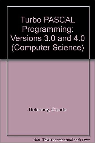 Turbo PASCAL Programming: Versions 3.0 and 4.0 Computer Science S.: Amazon.es: Claude Delannoy, Aidan Loyns, M.J. Stewart: Libros en idiomas extranjeros