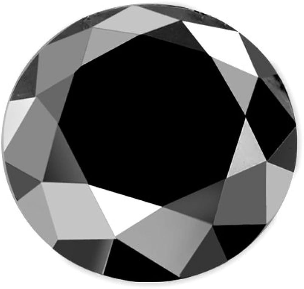 Round Cut Black Loose Diamond (AAA)