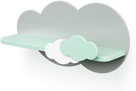 Estantería con nube blanca y azul