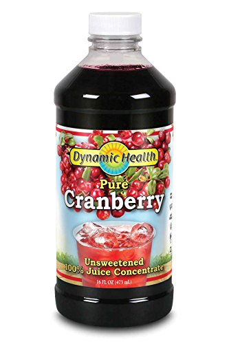 Dynamic Health, Unsweetened Concentrate Juice, Cranberry , 16-Ounce (Dynamic Health Cranberry Juice Concentrate 16 Oz)