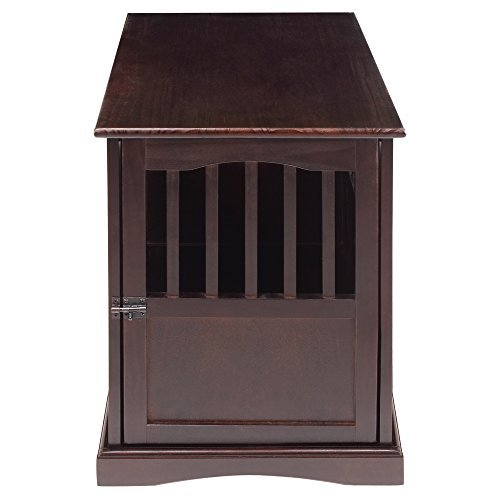 Casual Home End Table, 24-Inch Pet Crate, 20' W x 27.5' D x H, Espresso