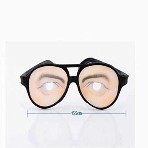 Womail Women Halloween Funny Glasses Prank Eye Ball Joke Toy (B) -