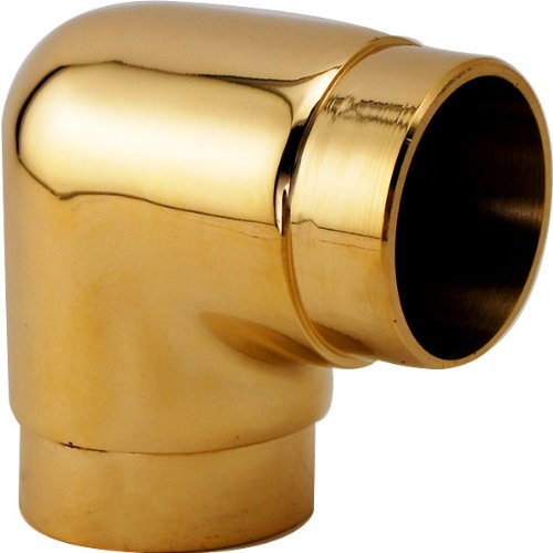 Flush Elbow Fitting 90 Degree - Polished Brass - 2