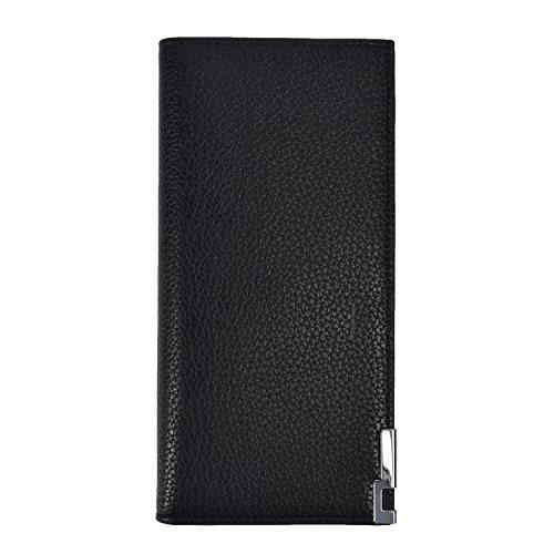 Mens Bifold Wallets RFID Slim Mens Long Wallets Leather Wallet Clutch