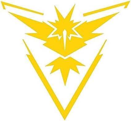 Pokemon Go - Team Yellow (Instinct) Decal Stickers for Car/Truck/Laptop  (4 5