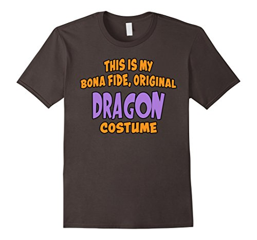 Last Minute Dragon Costume (Mens Bona Fide Original Dragon Costume Last Minute Shirt 2XL Asphalt)