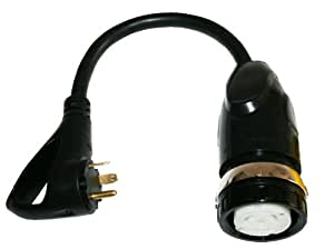 Furrion FP5030R-SB 50 Amp 125/250V Twist Lock Female Marine to 30 Amp RV Male Plug with LED Pigtail