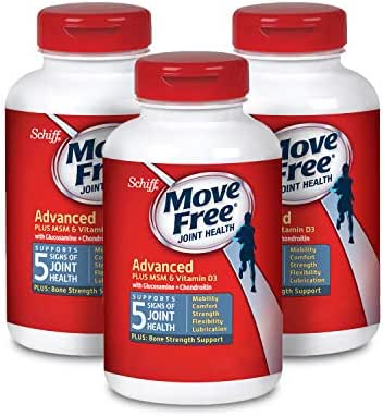 Move Free Glucosamine & chondroitin + msm & d3 Joint Health, move free (120 Count in a Bottle), Pack of 3, 360 Count