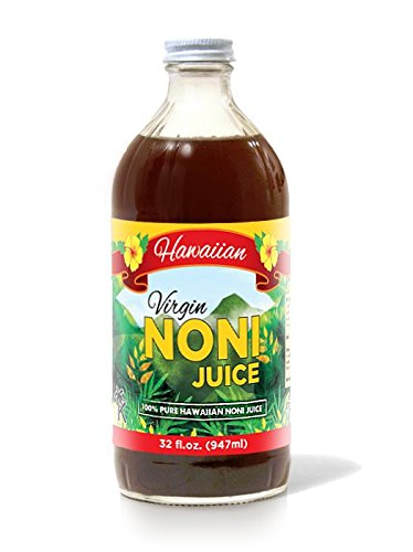 Virgin Noni Juice - 100% Pure Organic Hawaiian Noni Juice - 32oz Glass Bottle (Noni Juice Concentrate compare prices)