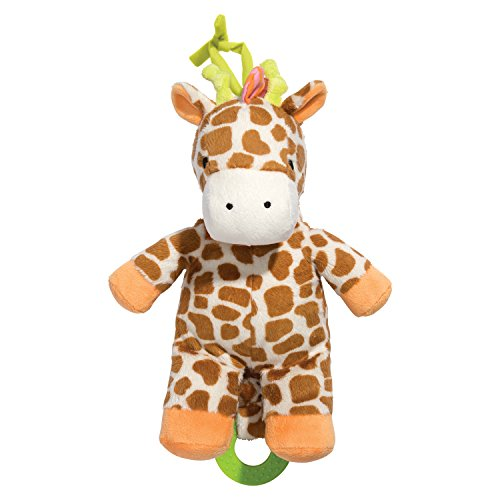 C.R. Gibson Little Fair Plush Musical Pull Toy, By Baby Dumpling - Giraffe