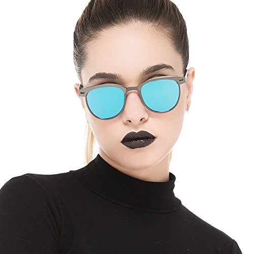 Calidad Polarizadas Gun De Aleación Gris Modo De Oro De Sin De La Del Blue Mujer Gafas TIANLIANG04 Alta Reborde De Sol Sol Bastidor Semillas Gafas 0gRf4wxq