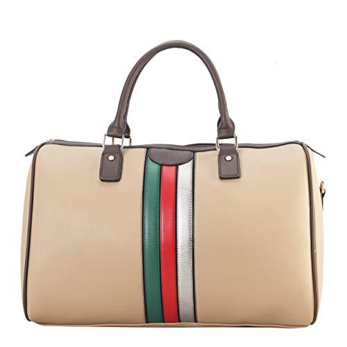 (RICHPORTS Women's Fashion Satchel Bags Designer Handbags Shoulder Bags Apricot Travel Bags for Ladies(Apricot))