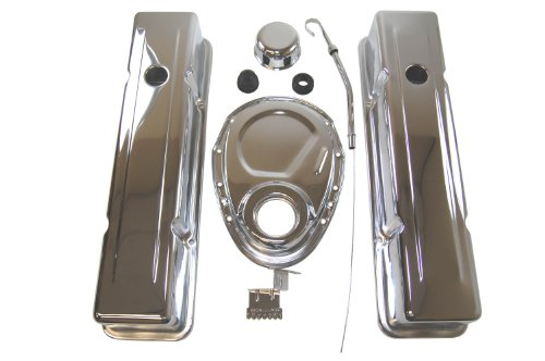 Racer Performance 1958-86 Chevy Small Block 283-305-327-350 Steel (Short) Engine Dress up Kit - Chrome