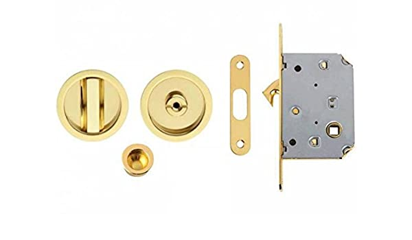 Ansamer - Kit puerta corredera. acabado oro.: Amazon.es: Bricolaje y herramientas